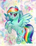 Rainbow Dash Watercolor G4