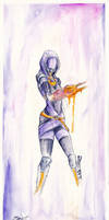 Tali'Zorah vas Normandy, reporting for duty... by Shaya-Fury