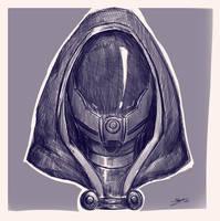 Tali sketch by Shaya-Fury