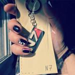 My nail N7 art plus N7 key chains =] by Shaya-Fury