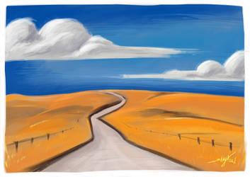 Landscape study by Shaya-Fury