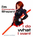 Commission - I`m Commander Shepard by Shaya-Fury