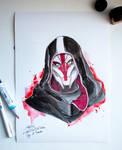 Mass Effect InkTober Day 12- Turian by Shaya-Fury