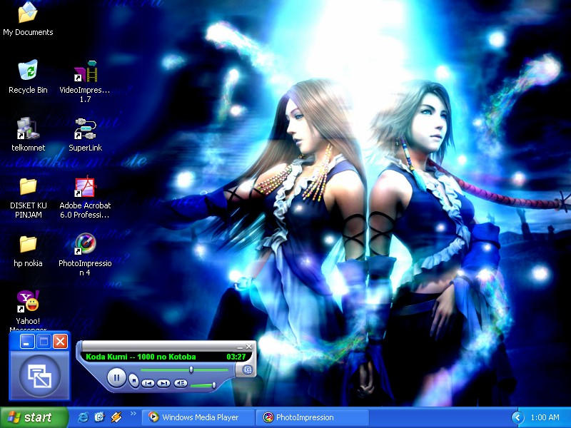 3rd Desktop- Yunnie by BlueZircon