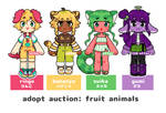 auction: fruit animals by otterguppy