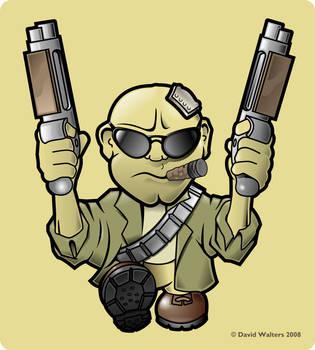Gun man by davidjwalters