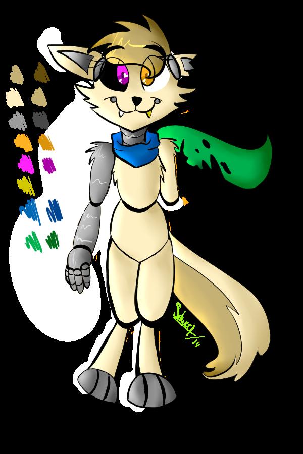 FNAF OC: Wolfy the Animatronic Wolf by xXGreyS on DeviantArt