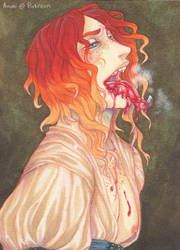 Blood Haze ACEO by Anoki-Doll