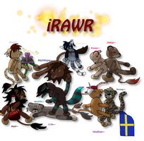 iRawr plushies~ by Shallur