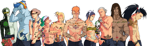 Tattooed Akatsuki