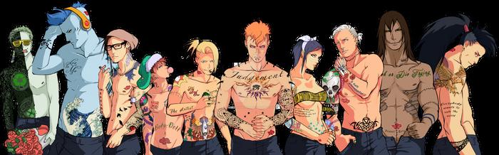 Tattooed Akatsuki