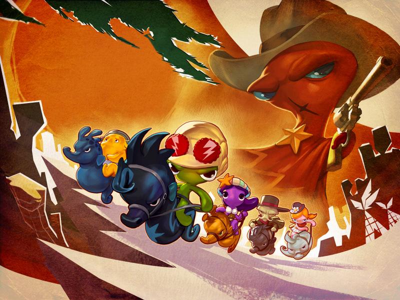 Squids Wild West - Marketing Artwork by gorgonzola3000