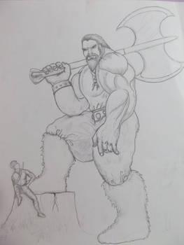 Toshiro and Alien Viking Giant