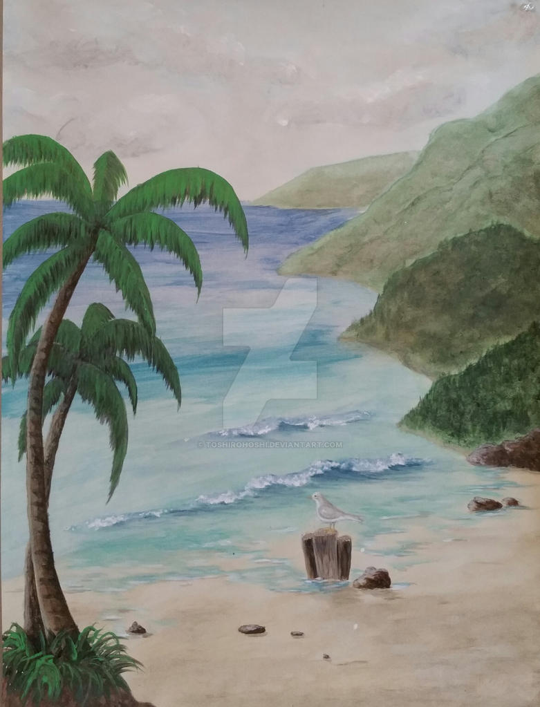 Canvas mural from a faux painting class in 2002 by ToshiroHoshi