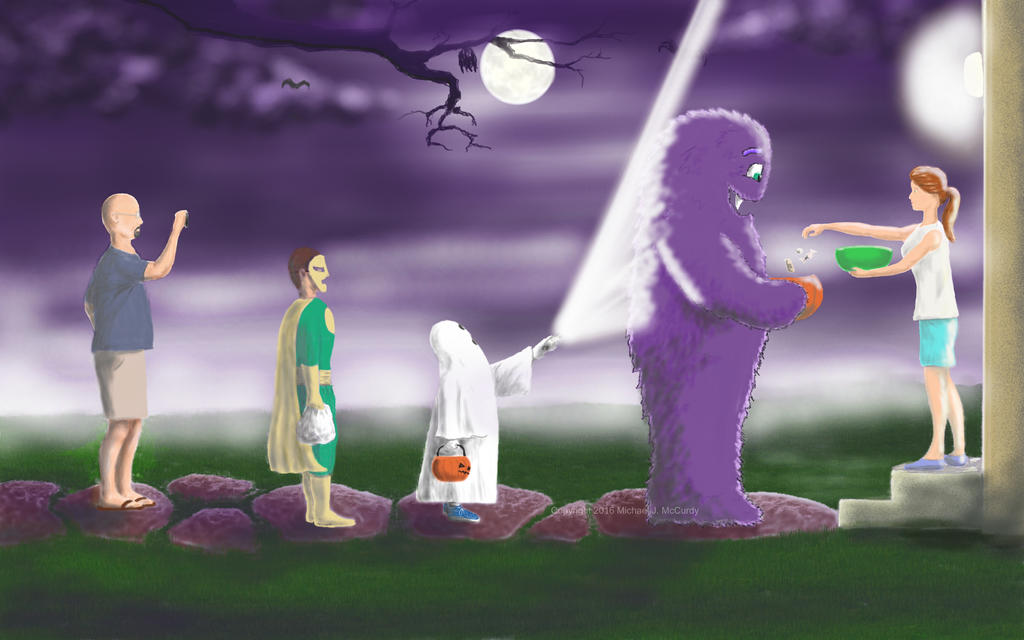 Monster on Halloween watermark by ToshiroHoshi