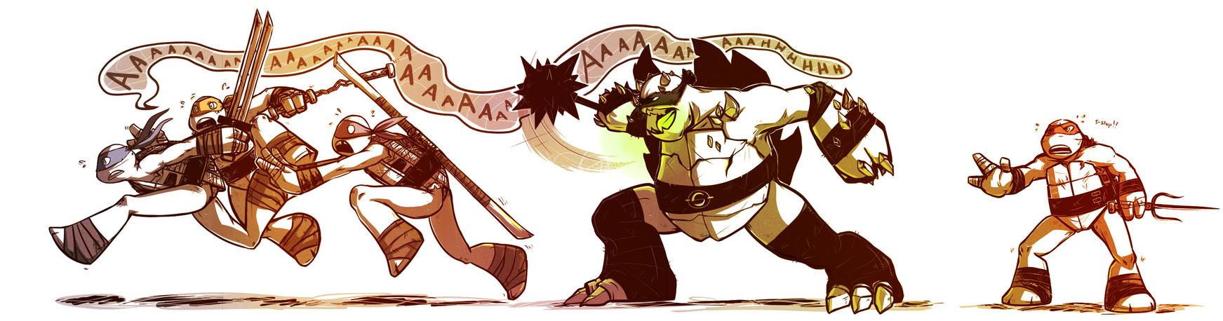 RUN RUN PANIC RUN by pirate-pet