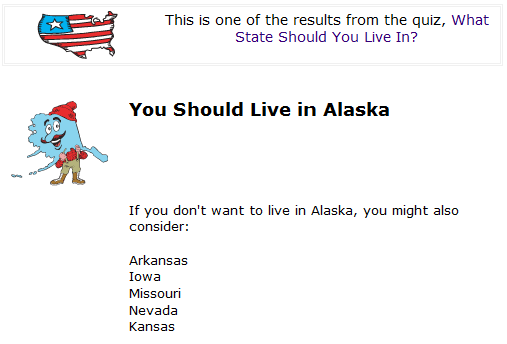 Which State Should I Live In Alaska By