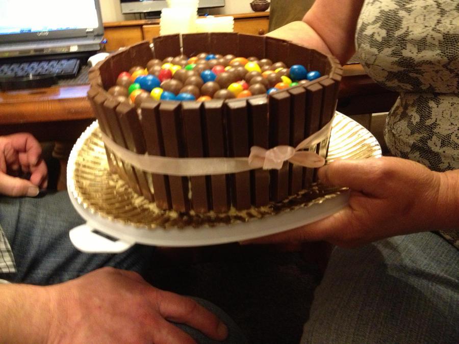 Birthday Cake Mnm And Kit Kat Style By Chloerhiannonx On Deviantart