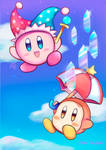 Kirby and Waddle dee by EllenT