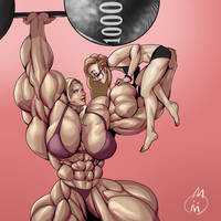 1000 Watchers: request a female muscle story!