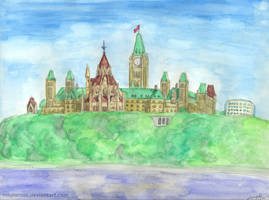 Parliament Hill in Watercolour by MapleRose