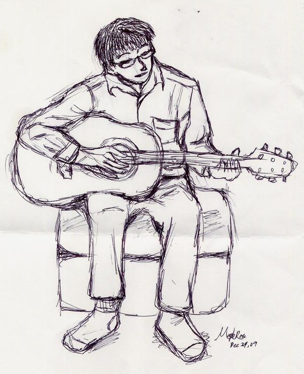 sketch - guitar player by MapleRose on DeviantArt