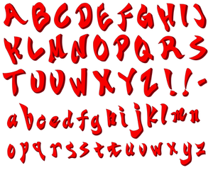 Ace Attorney Objection font