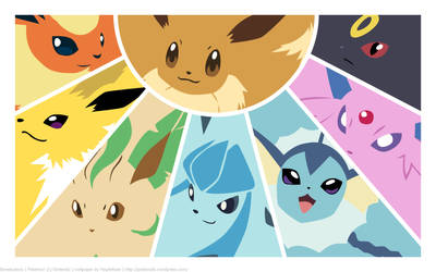 Pkmn - Eeveelutions by MapleRose