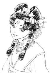 [Inktober 2019] 17: Ornament - Kou Shuurei