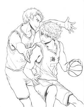 (KuroBas) Aomine VS Kise