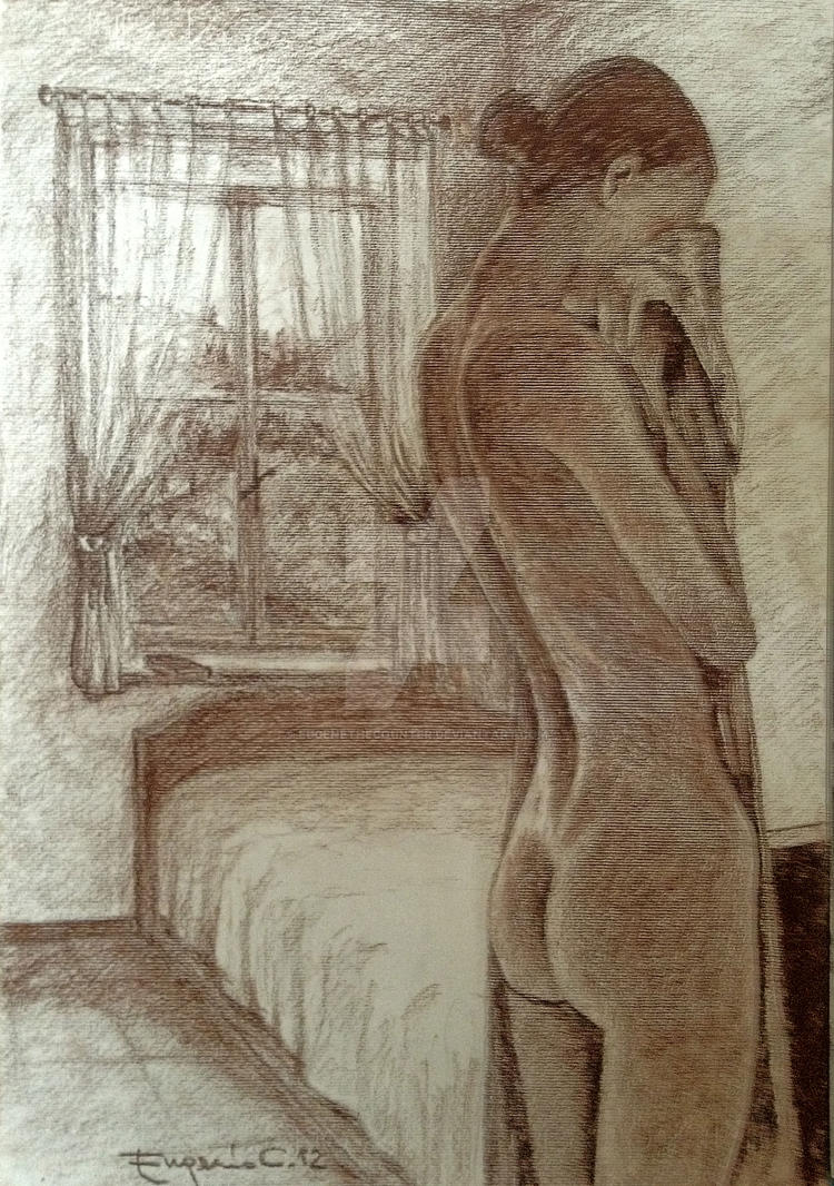 April '12 - nude, sepia by EugeneTheCounter