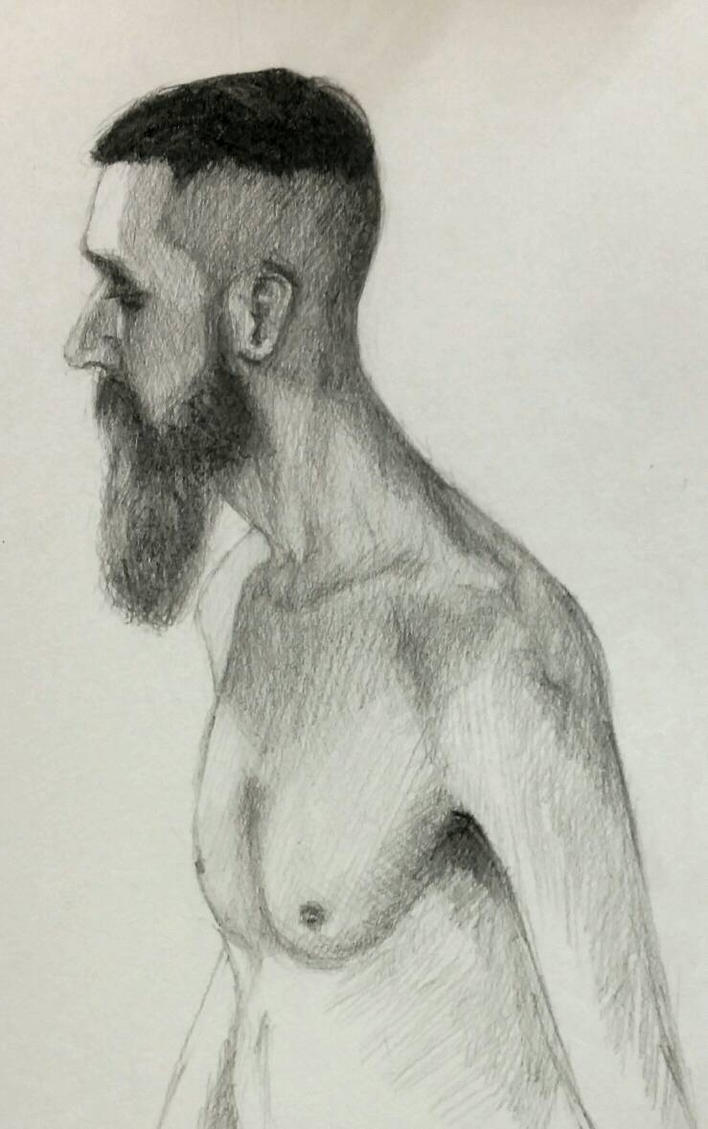 Carlo - from life - graphite by EugeneTheCounter