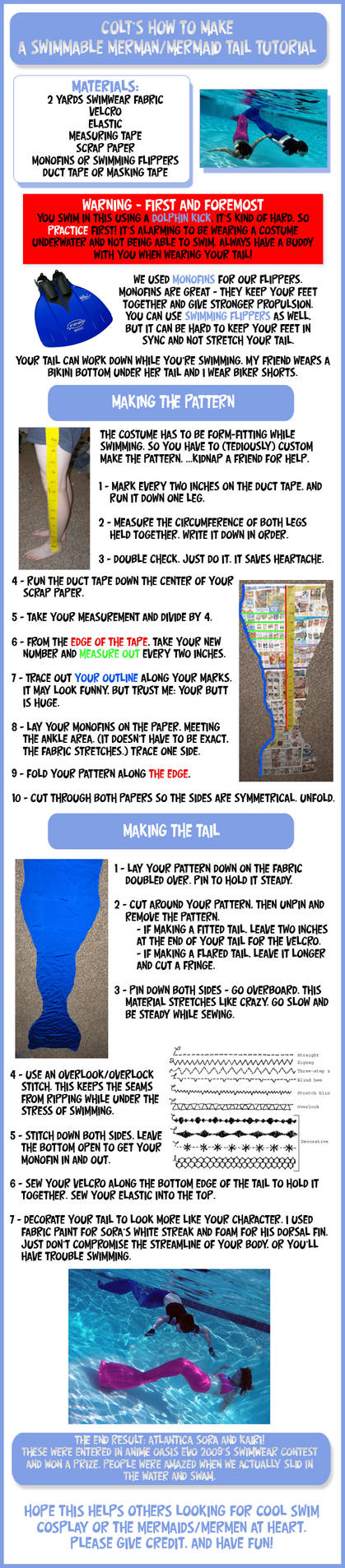 How-to: Swimmable mermaid tail by Colt-kun on DeviantArt