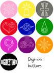 Buttons: Digimon set 1