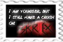 Crush on Skrillex stamp by rockstarcrossing