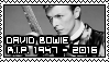 RIP David Bowie Stamp by rockstarcrossing