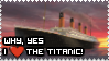 Titanic Stamp by rockstarcrossing