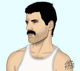 Freddie Mercury's 74th` by rockstarcrossing