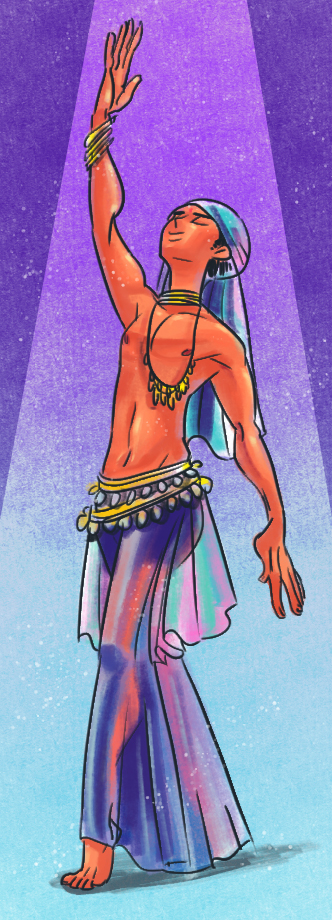 Male Belly Dancer by WortCat