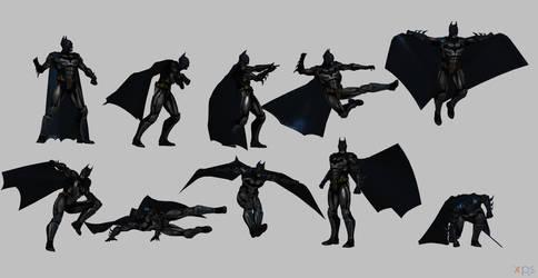 Batman injustice poses by Gizmochillin