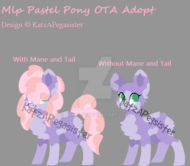 MLP Pastel Pony OTA Adopt | Open | LOWERED PRICE | by Kaiimira