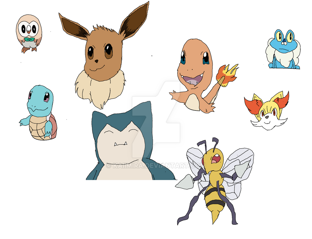Pokemon Doodles by Kaiimira