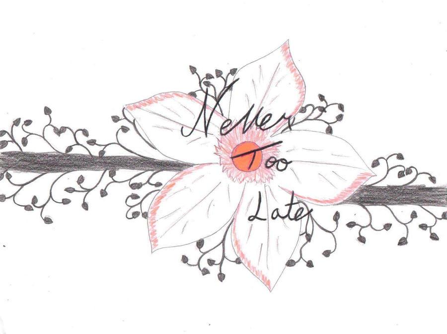 never too late tattoo design1 by bloodrose19000 on deviantart. Black Bedroom Furniture Sets. Home Design Ideas