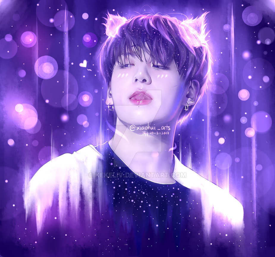 290317 BTS Jungkook Fanart (Kitty Version) by KekeLiv