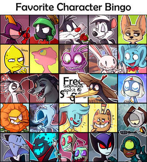It's just a picture of Insane Character Bingo Template
