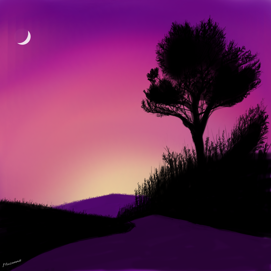 simple lanscape digital painting by muzammildesign