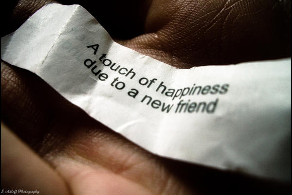A touch of happiness.