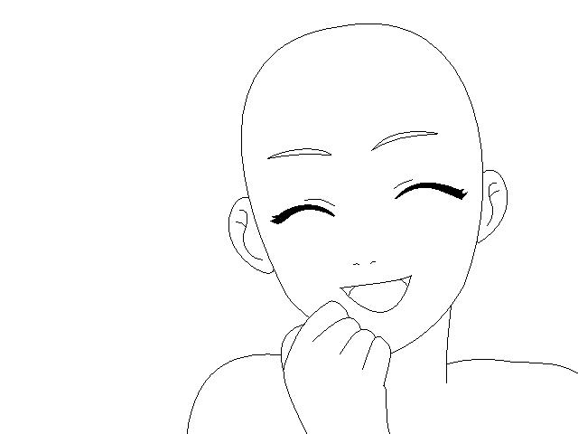 Anime female base 1 by xclo basesx