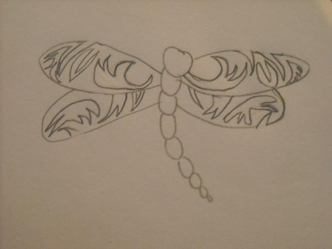 Dragonfly Abstraction - dragonfly tattoo