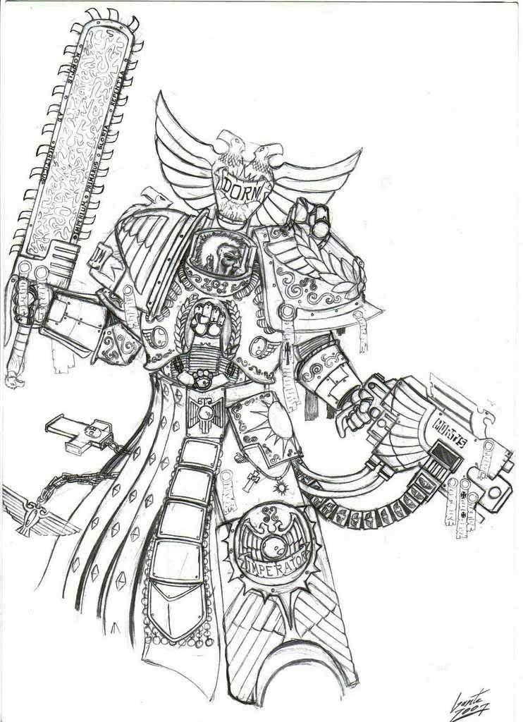 [W30K] Collections d'images : Les Primarques - Page 4 Rogal_dorn_by_greyall-d2wbast